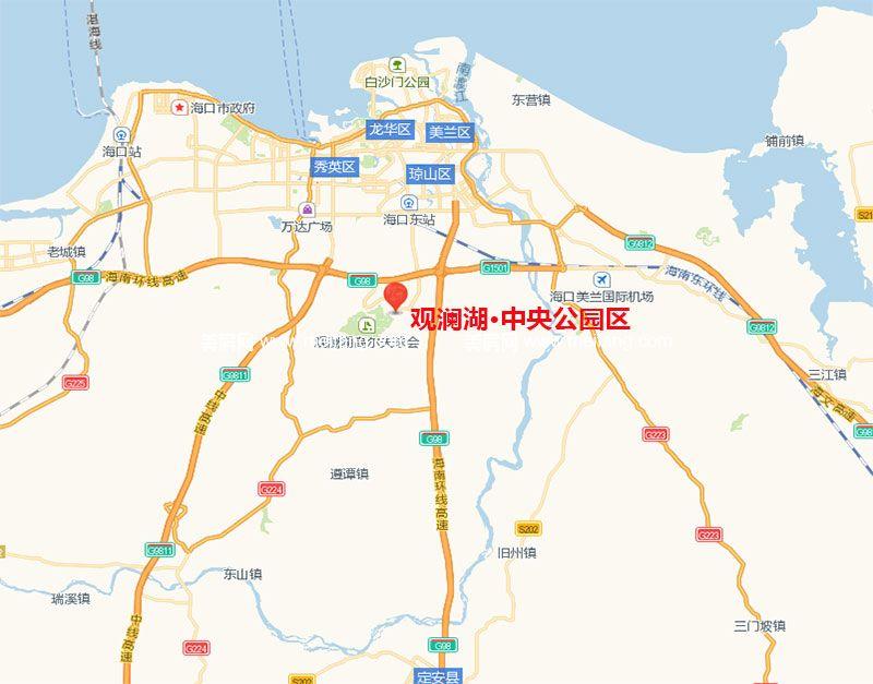 1公里,距内海只有100米,距离海口国贸21公里,海口市政府10公里,火车站